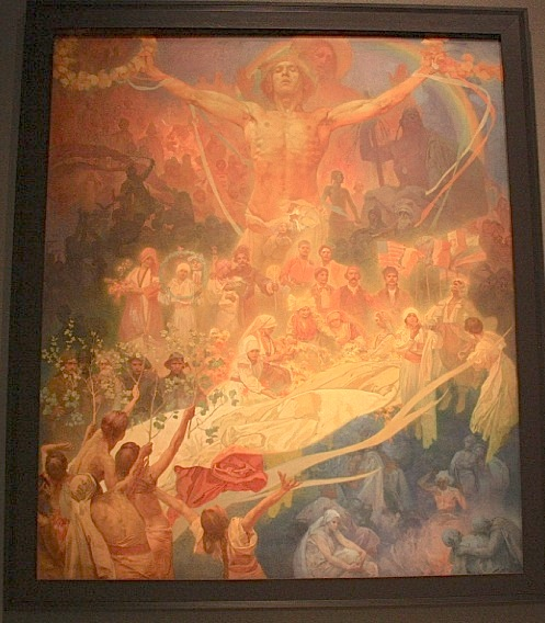 The Slav Epic, Alfons Mucha, Narodni galerie, National Gallery, Veletrzni Palac, Prague, Praha, Czech Republic, fotoeins.com