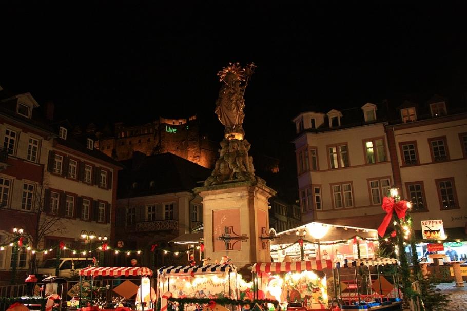 Mariensäule, Mary statue, Kornmarkt, Heidelberg, Germany, fotoeins.com