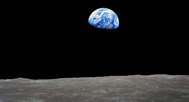 Earthrise over the Moon, from Apollo 8 - 24 Dec 1968