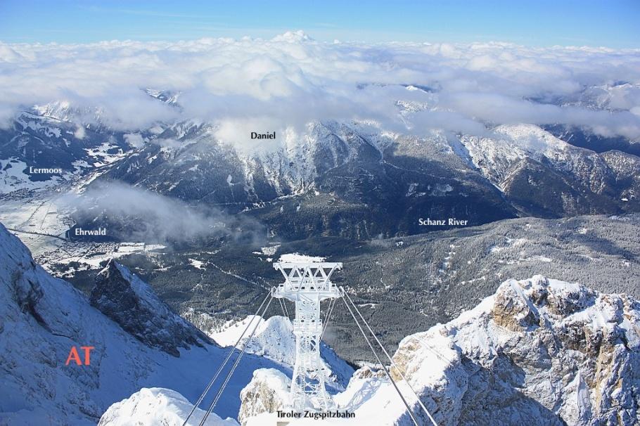 West from Zugspitze: Tyrol, Austria side, fotoeins.com