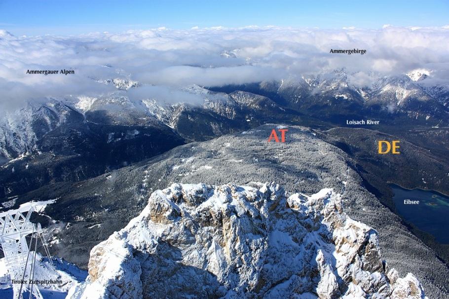 Northwest from Zugspitze: Tyrol, Austria, fotoeins.com