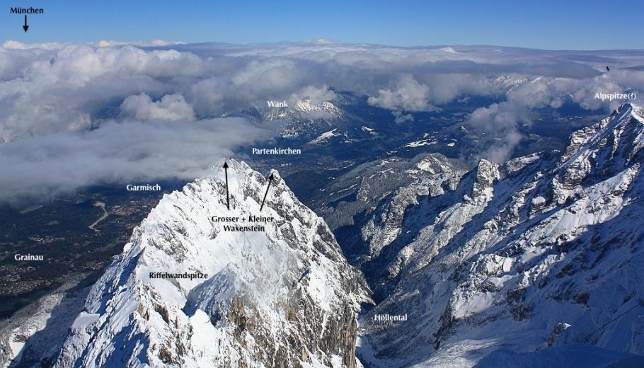 Northeast from Zugspitze: Bavaria, Germany, fotoeins.com