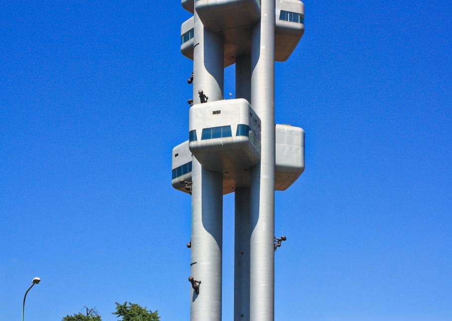 Žižkovská televizní věž, Zizkov TV Tower, Miminka, Babies, David Cerny, Prag, Praha, Prague, Czech Republic, fotoeins.com