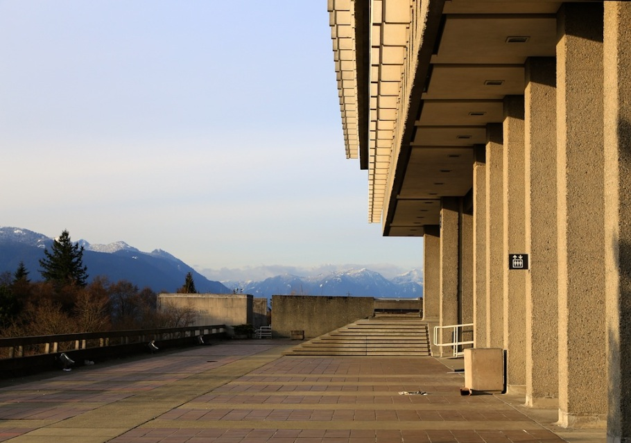 Academic Quadrangle, Simon Fraser University, Burnaby Mountain, Burnaby, BC, Canada