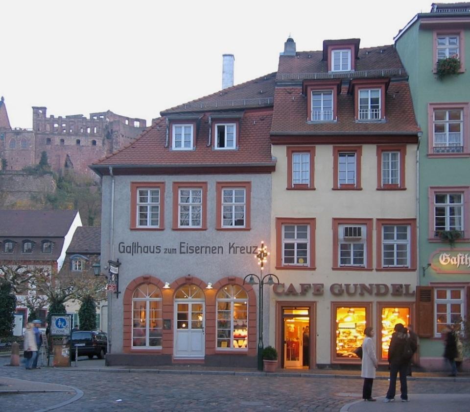 Cafe Gundel, Hauptstrasse (Karlsplatz), Heidelberg, Germany