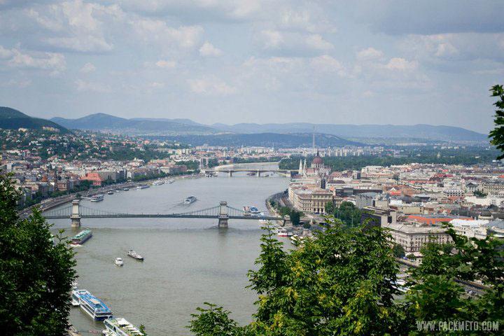 Budapest from Gellért Hill, AW packmeto.com
