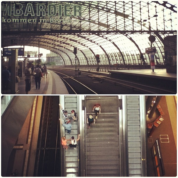 Up and down, Gleis 14, Platform 14, Berlin Hauptbahnhof, Berlin Central Station