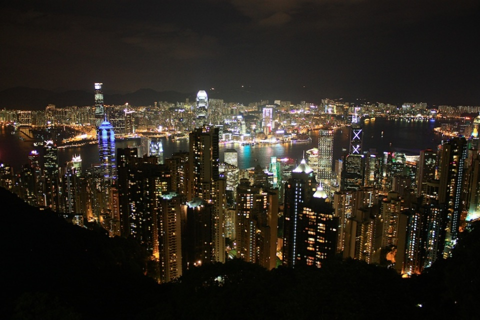 Central and Kowloon, from The Peak: Hong Kong, fotoeins.com