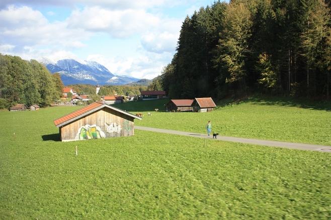 Loisach valley, east to Garmisch-Partenkirchen, Bayerische Zugspitzbahn, fotoeins.com