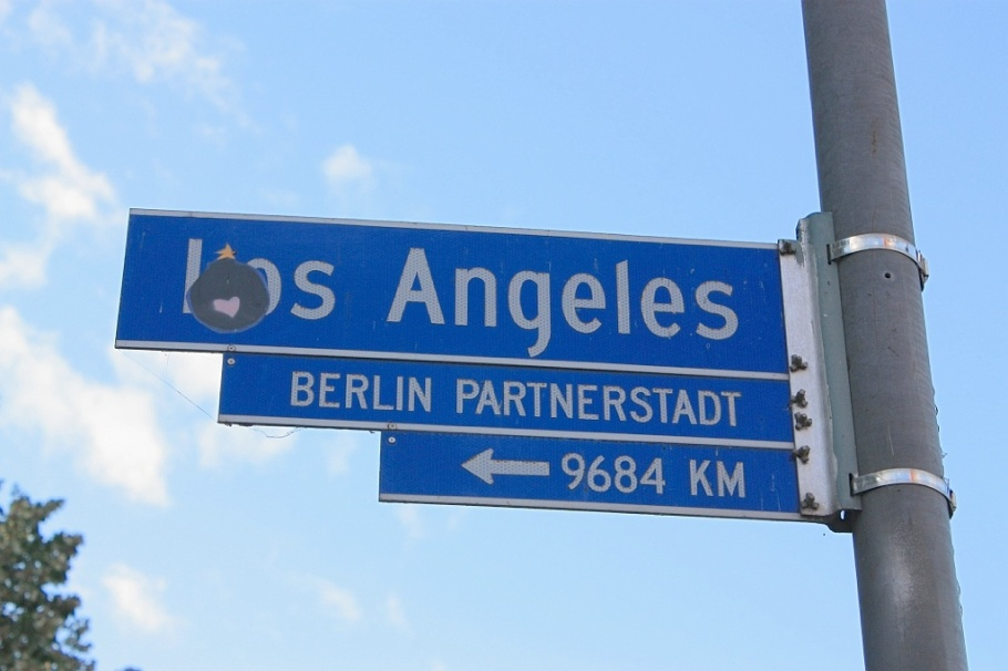"""Partner city: Los Angeles"", Alexanderplatz, Berlin, Germany, fotoeins.com"