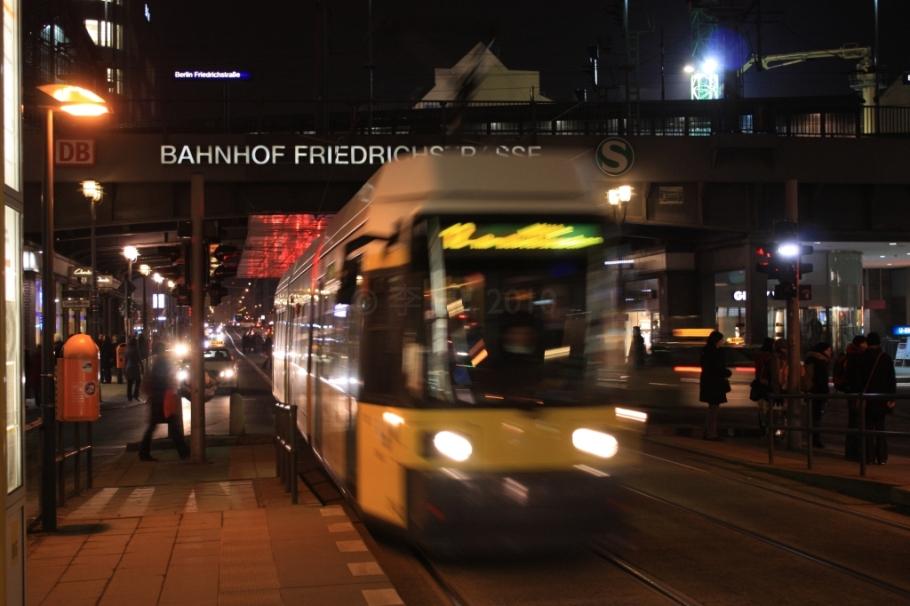 12 tram, Bhf Friedrichstrasse, Mitte, Berlin, Germany, fotoeins.com