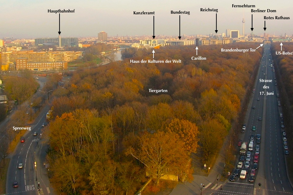 Stadtpanorama, city panorama, Siegessäule, Victory Column, Berlin, Germany, fotoeins.com
