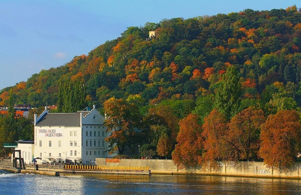 Fall morning, Petrin Hill, Charles Bridge, Prague, Czech Republic, fotoeins.com