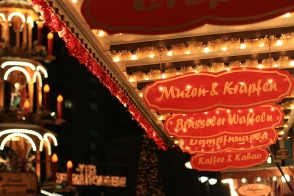 Carousel, drink, and food: Weihnachtsmarkt n der Gedächtniskirche, Berlin, Germany, fotoeins.com