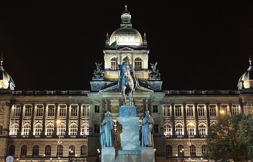 Pomník svatého Václava, Václavské náměstí, St. Wenceslas memorial, Wenceslas Square, Prague, Praha, Czech Republic, fotoeins.com