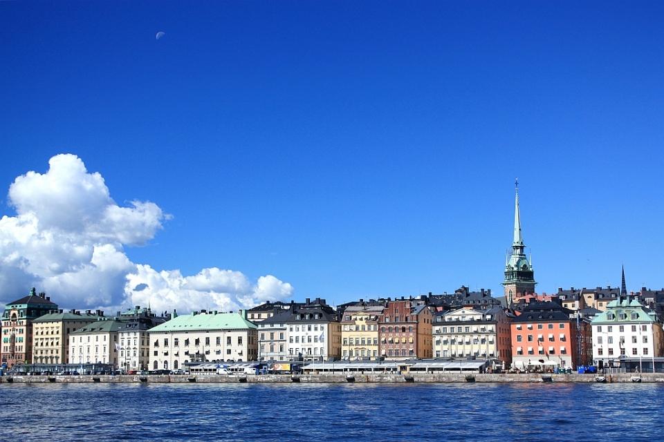 Gamla Stan, from Skeppsholmen, Stockholm, Sweden, fotoeins.com