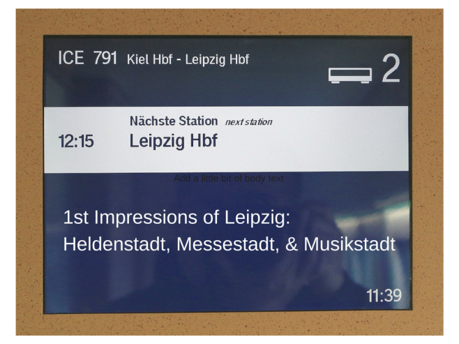 ICE 791 south to Leipzig, Deutsche Bahn, InterCity Express, fotoeins.com