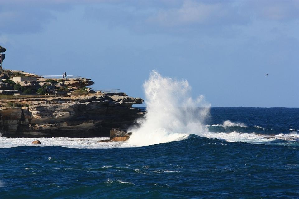 North Bondi Rocks, Bondi Icebergs, Bondi Beach, Sydney, Australia, Pacific Ocean, fotoeins.com