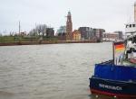 Neuer Hafen (New Harbour), near German Emigration Centre, Bremerhaven, Germany, fotoeins.com