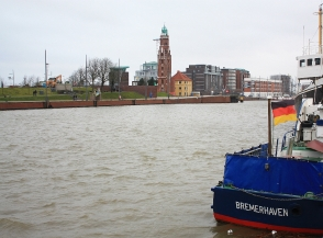 Neuer Hafen (New Harbour), near German Emigration Centre, Bremerhaven, Germany, fotoeins.com