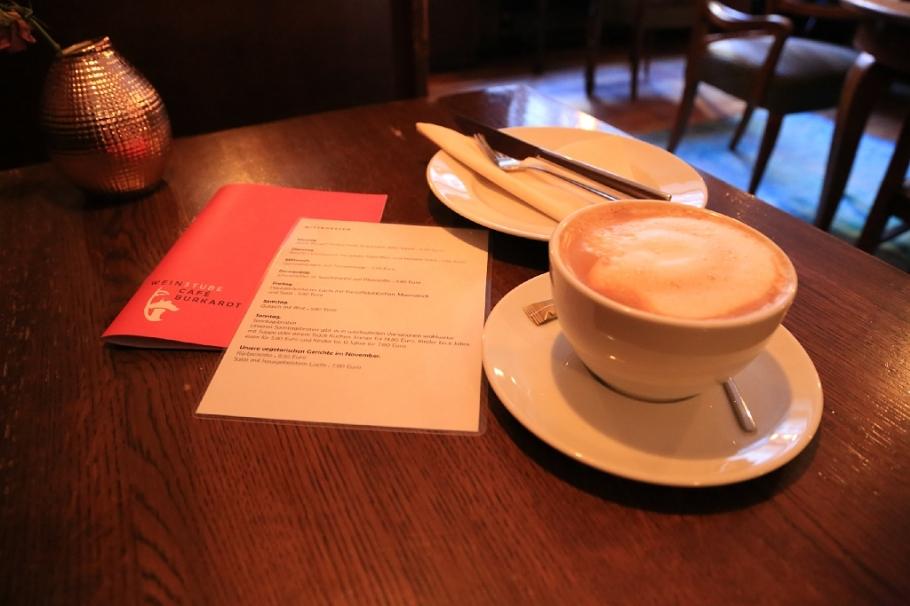 Speisekarte (menu), latté, Cafe Burkardt, Heidelberg, Germany, fotoeins.com