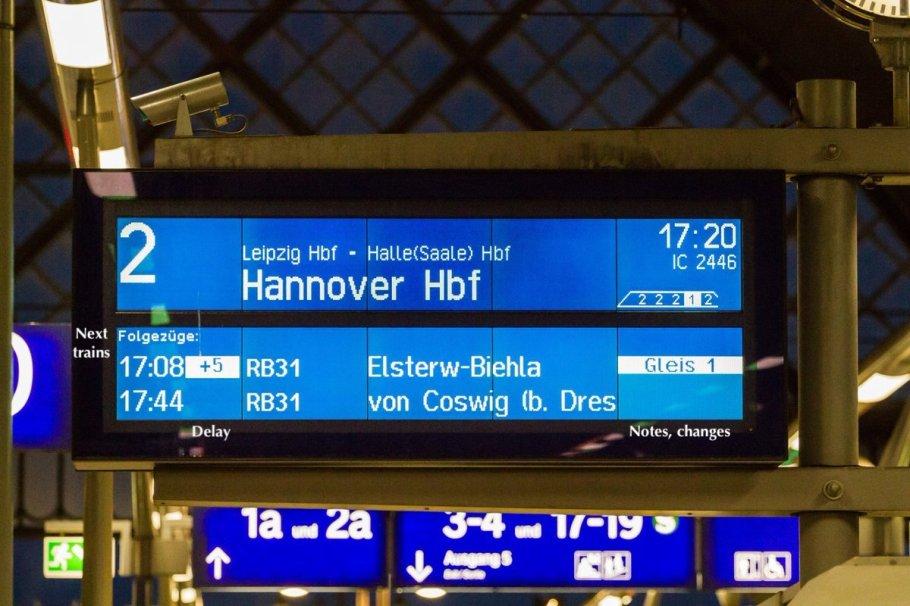 Multizuganzeige, Dresden Hauptbahnhof, Deutsche Bahn