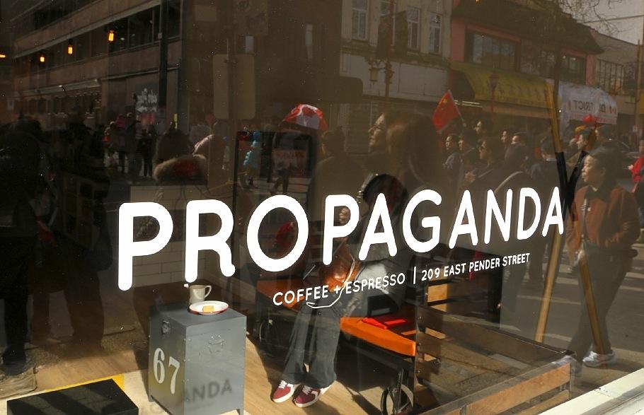 Chinese New Year parade, Propaganda, Chinatown, Vancouver, BC, Canada, fotoeins.com