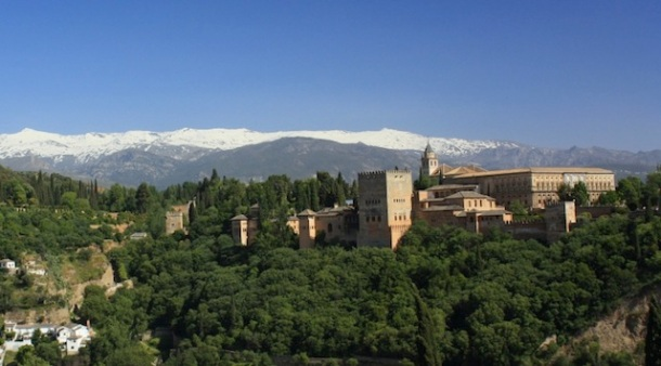 Alhambra, Sierra Nevada, Granada, Andalucia, Spain, fotoeins.com