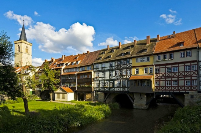 Erfurt, Merchants' Bridge, picture 5739, photo by Toma Babovic, Thüringer Tourismus GmbH, German National Tourism Board