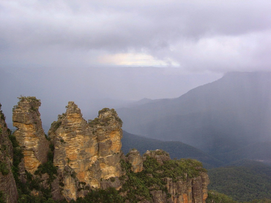 Three Sisters, Kings Tableland, Blue Mountains, Katoomba, New South Wales, Australia, fotoeins.com