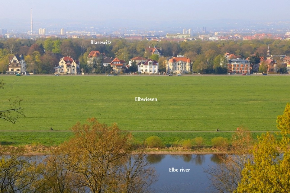 Morning view, Elbe river, Elbwiesen, Blasewitz, Schloss Eckberg, Dresden, Saxony, Sachsen, Germany, fotoeins.com