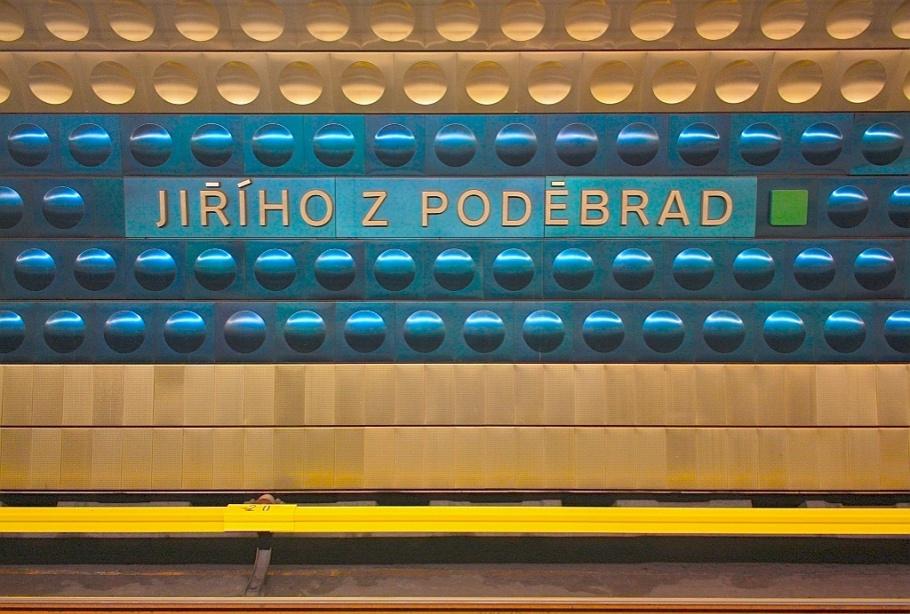 Jiřího z Poděbrad, DPP Metro, Prague, Praha, Czech Republic, fotoeins.com