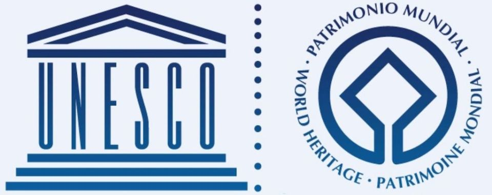 UNESCO World Heritage logo, Wikimedia CC3 license