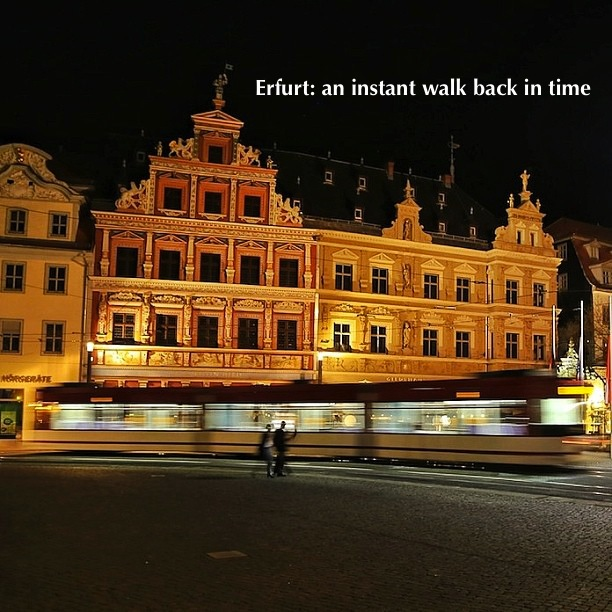 Rathaus at night, Fischmarkt, Erfurt, Germany, fotoeins.com