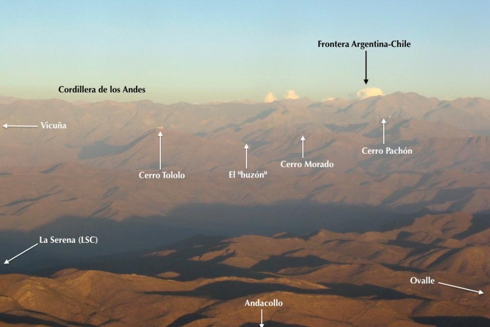 Chilean Andes, Cerro Tololo, Cerro Pachón, astronomical observatories, Chile, fotoeins.com