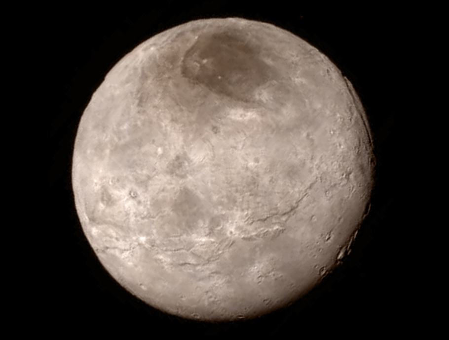 Charon, Pluto, NASA New Horizons, http://pluto.jhuapl.edu/Multimedia/Science-Photos/image.php?page=2&gallery_id=2&image_id=230