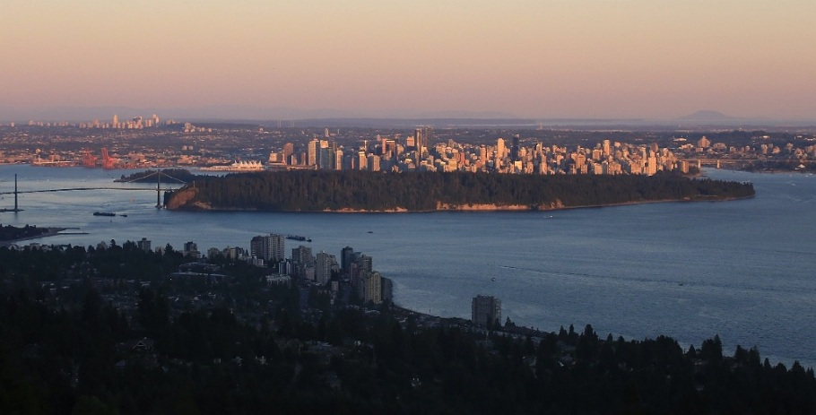 Last light, downtown Vancouver, Stanley Park, English Bay, Salish Sea, High View Lookout, Cypress Mountain, West Vancouver, BC, Canada Day 2015, fotoeins.com