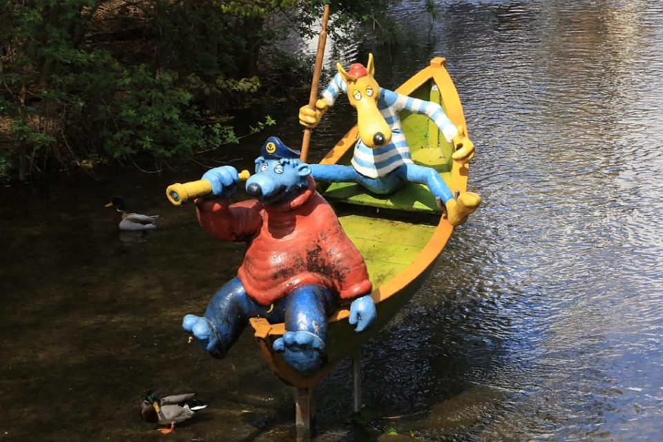 Käpt'n Blaubär und Hein Blöd, KIKA-Figuren, Erfurt, Thüringen, Germany, fotoeins.com