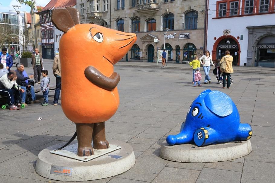 Die Maus und der Elefant, KIKA-Figuren, Erfurt, Thüringen, Germany, fotoeins.com
