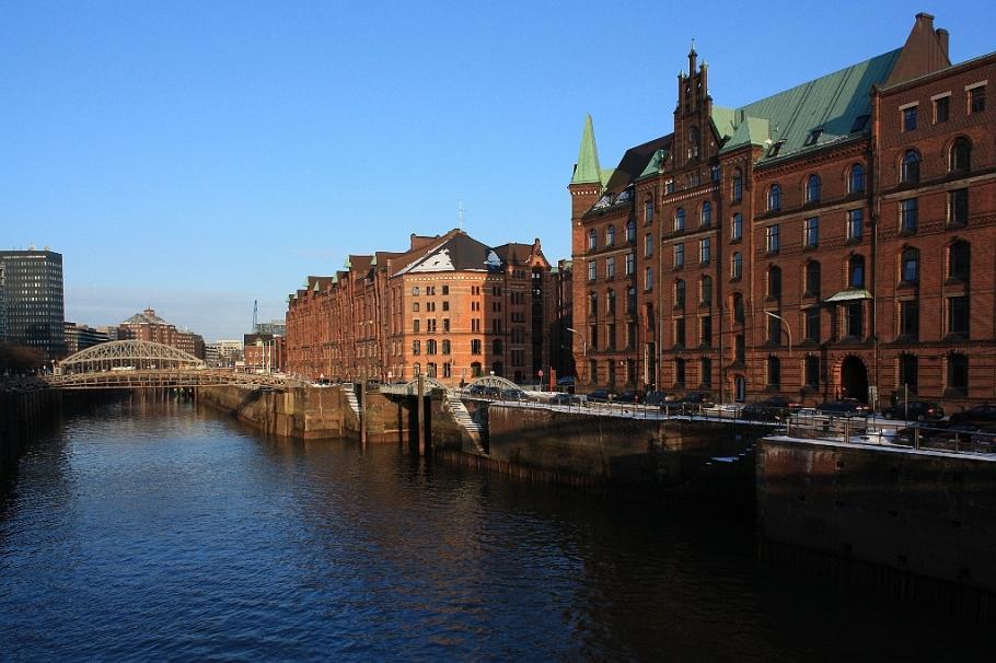Zollkanal, Kibbelsteg, Jungfernbrücke, Speicherstadt, Hansestadt, Hamburg, Germany, fotoeins.com