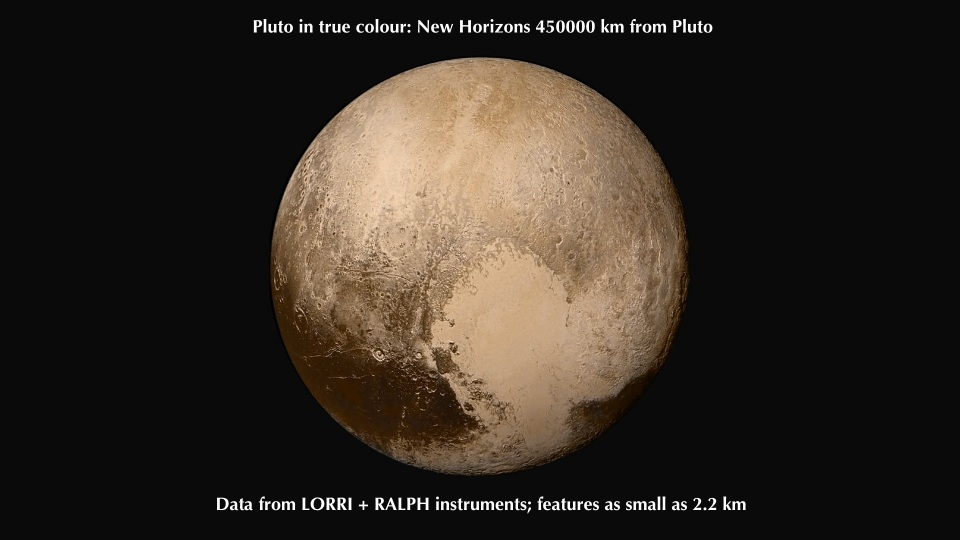 Pluto with data from LORRI, RALPH instruments, Pluto, NASA New Horizons, http://pluto.jhuapl.edu/Multimedia/Science-Photos/image.php?gallery_id=2&image_id=243