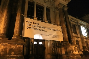 Goethe quote, Dresden Academy of Fine Arts, Brühl's Terrace, Dresden, Saxony, Germany, fotoeins.com