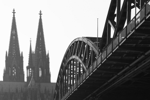 Kölner Dom, Hohenzollernbrücke, Köln, Cologne, Germany, fotoeins.com