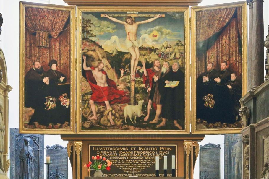 Cranach Altar, Church of St. Peter and St. Paul, Herderkirche, Stadtkirche, Herderplatz, Weimar, Thüringen, Thuringia, Germany, fotoeins.com