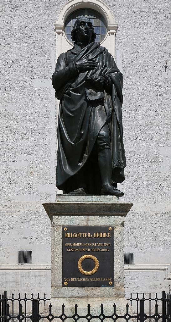 Johann Gottfried von Herder, Herderplatz, classic Weimar, UNESCO World Heritage, Weimar, Thüringen, Thuringia, Germany, fotoeins.com