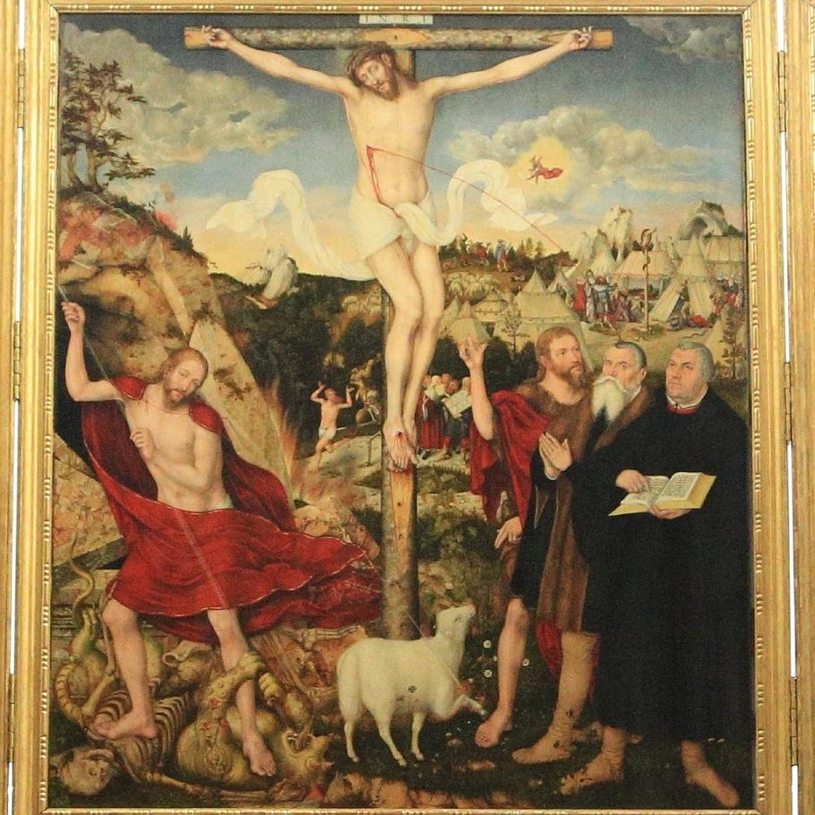 Triptych, Cranach Altar, Church of St. Peter and St. Paul, Herderkirche, Stadtkirche, Herderplatz, Weimar, Thüringen, Thuringia, Germany, fotoeins.com