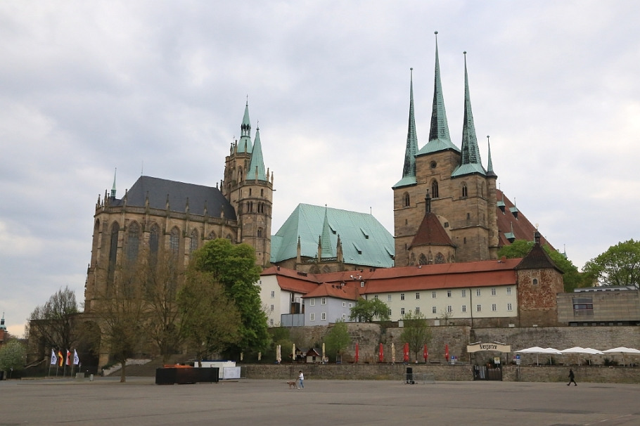 Domberg, Mariendom, St. Mary's Cathedral, Erfurter Dom, Erfurt Cathedral, Severikirche, St. Severus Church, Domplatz, Cathedral Square, Erfurt, Thüringen, Thuringia, Germany, fotoeins.com