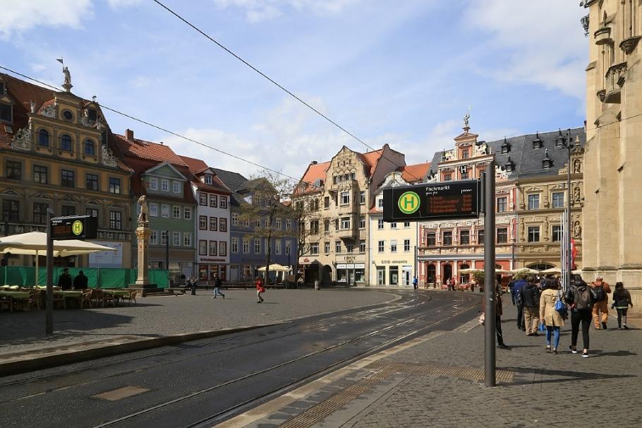 Fischmarkt, Old Fish Market, Rathaus, City Hall, Erfurt, Thüringen, Thuringia, Germany, fotoeins.com