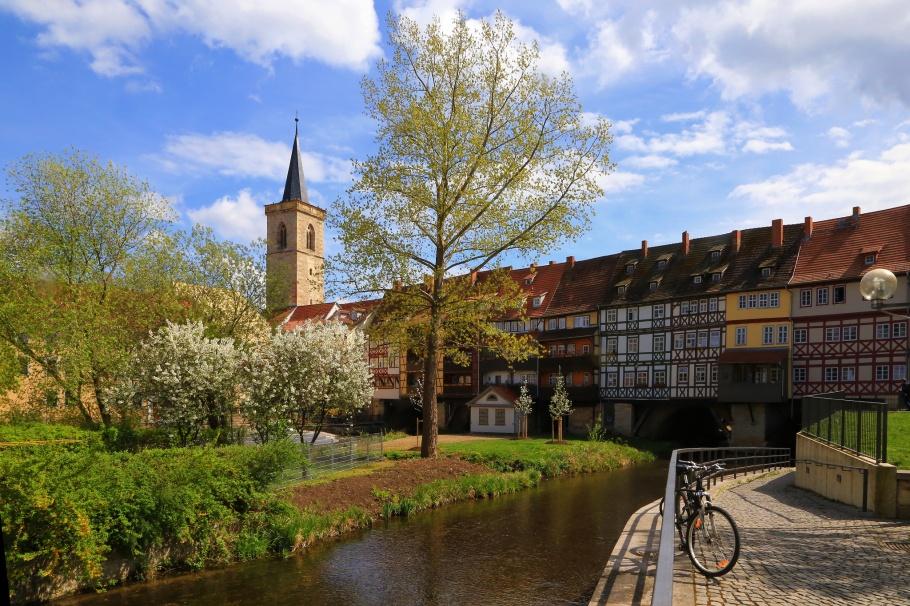 Krämerbrücke, Shopkeepers' Bridge, Erfurt, Thüringen, Thuringia, Germany, fotoeins.com