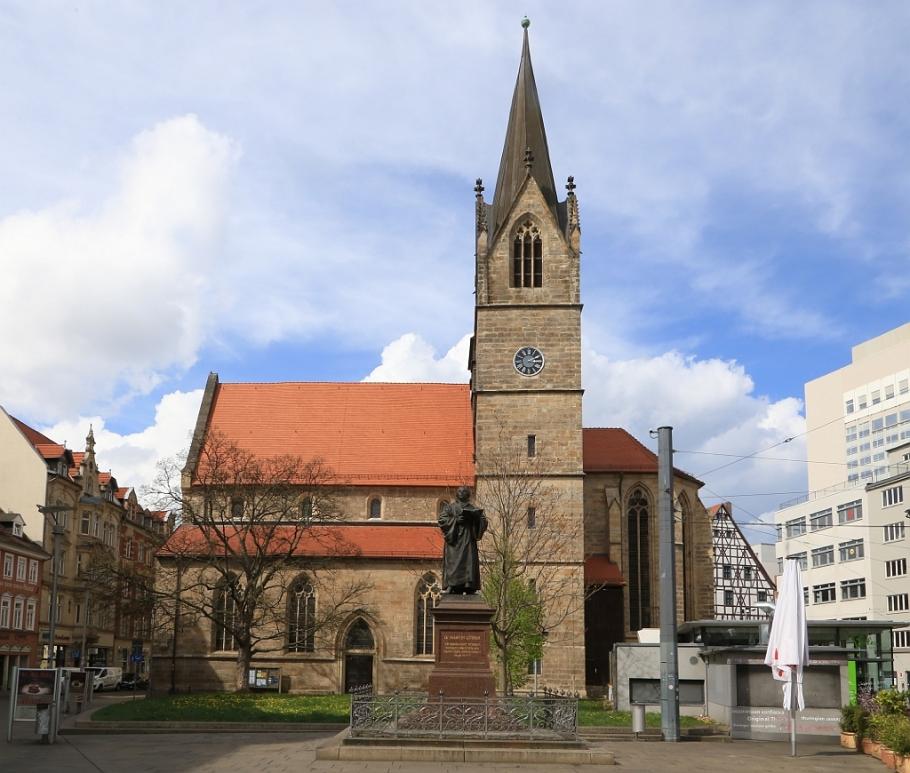 Kaufmannskirche, Luther-Denkmal, Merchants' Church, Luther Memorial, Anger, Erfurt, Thüringen, Thuringia, Germany, fotoeins.com
